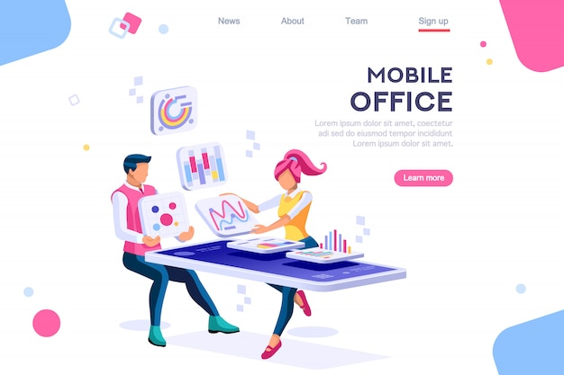 Interacting people data device landing page