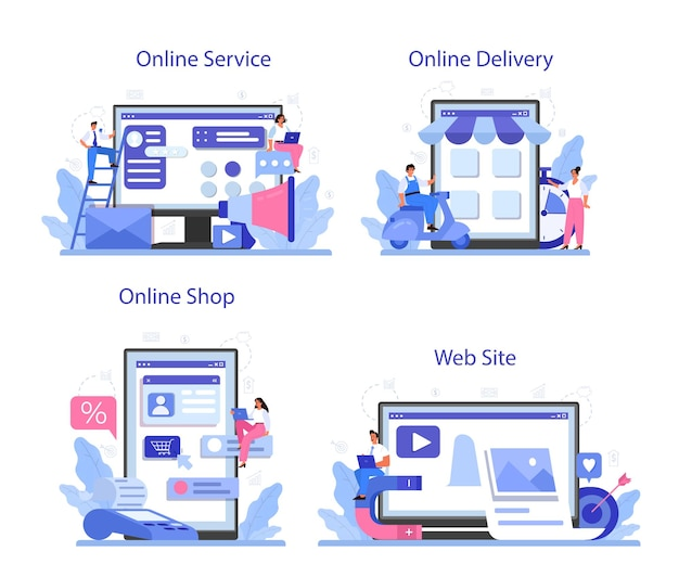 顧客のオンラインサービスまたはプラットフォームセットとの相互作用