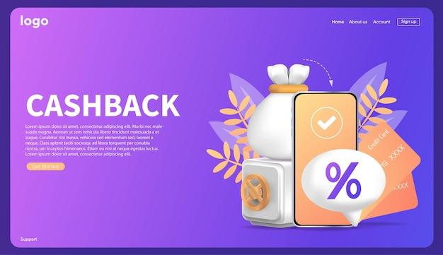 Кэшбэк процентов шаблон для рекламного финансирования возврат процентов после безопасных платежей v