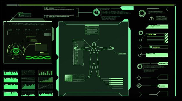 Interface elements hud, ui, gui.  callout titles set.  futuristic callout bar labels, information call box bars and modern digital info boxes layout templates. callouts titles in hud style.
