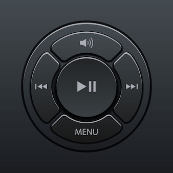 Interface of elements music player