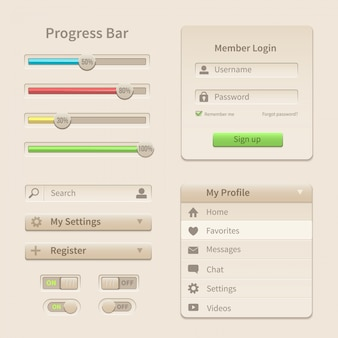 Interface elements and tools for web and mobile.