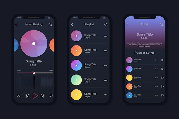 Interface for music player