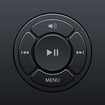Интерфейс элементов музыкального плеера