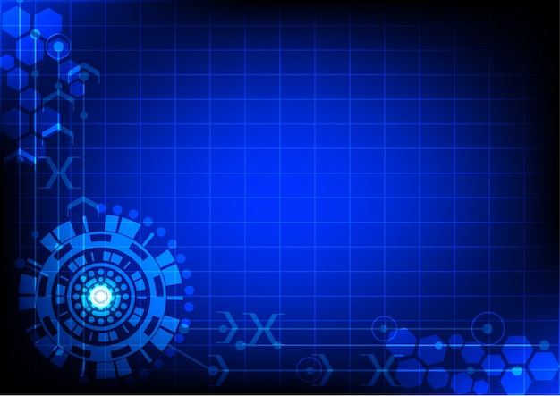 Interface technology, abstract background