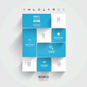 Interface template-modern concept for internet web, infographic