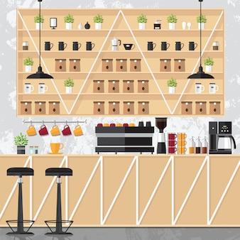 Interioers coffee shop