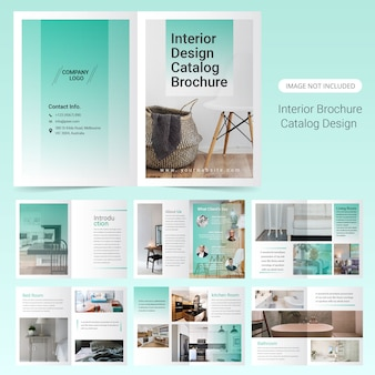 Interior brochure template design