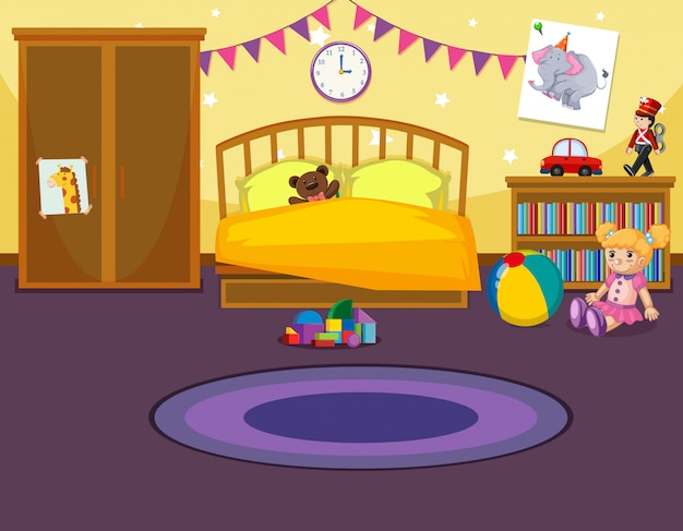 Interior of childs bedroom