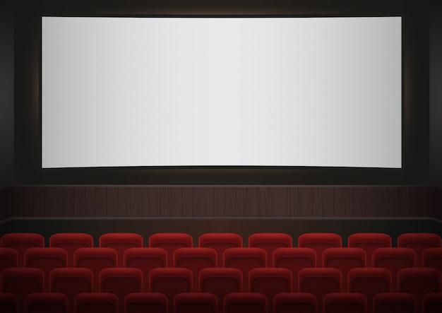 Interior of a cinema movie theatre