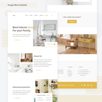 Interior decoration web page
