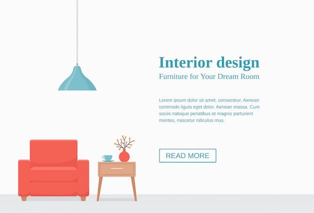 Дизайн интерьера баннера