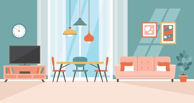 フラット家具とインテリアデザインのコンセプト