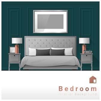 Interior design modern bedroom background