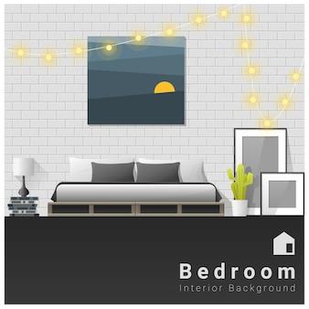 인테리어 디자인 현대 침실 배경