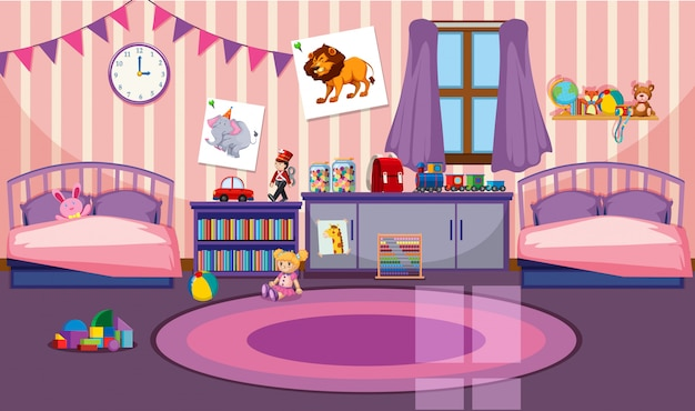 Interior of girls room