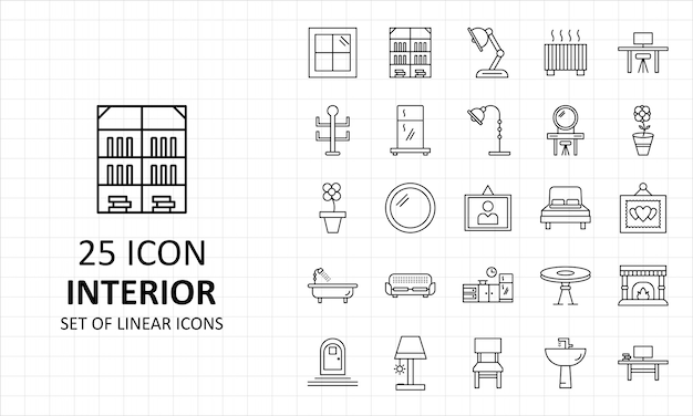Interior icons sheet pixel perfect