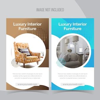 Interior instagram banner template