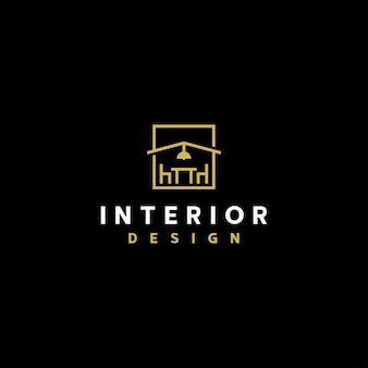 Шаблон дизайна интерьера линии логотипа