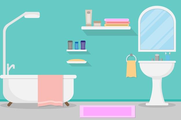 Interior modern bathroom design