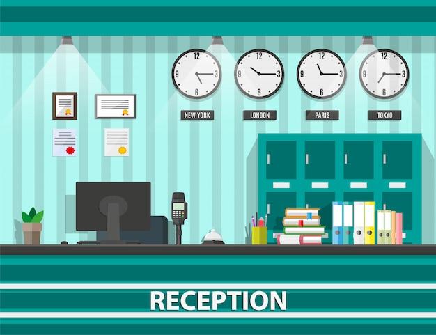 Interior of modern reception