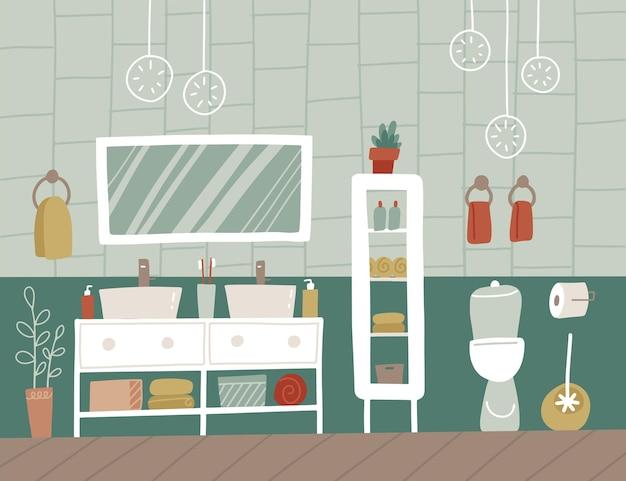 モダンなスタイルのデザインのバスルームのインテリア