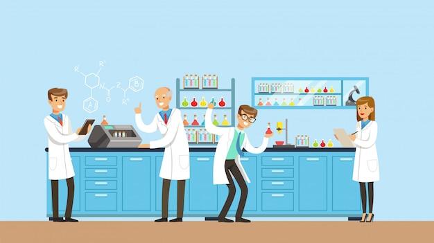 科学実験室のインテリア