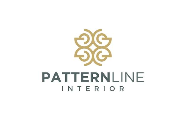Interior pattern logo