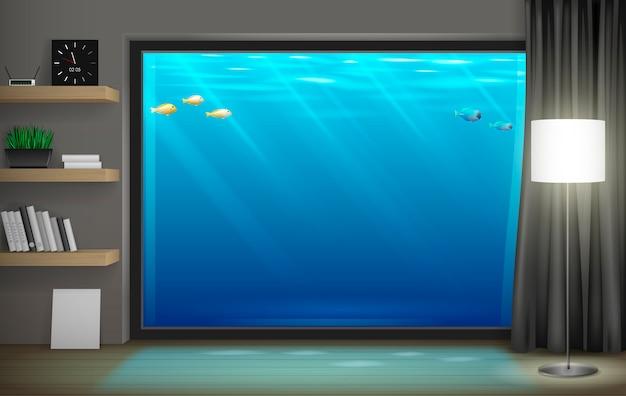 Interior underwater hotel