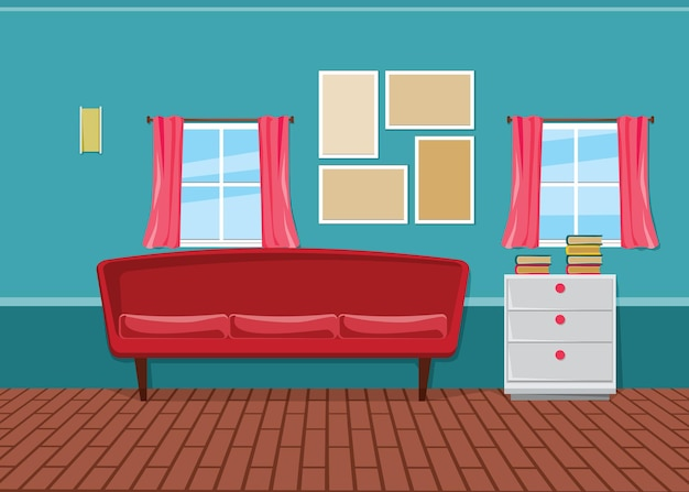 Вектор интерьера для украшения современного дизайна