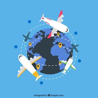 International air routes