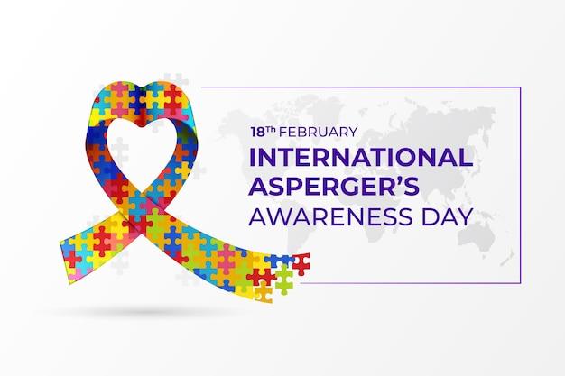 International asperger's awareness day in flat design