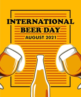 International beer day 2021 poster event