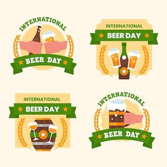 Distintivo di giornata internazionale della birra pak = ck