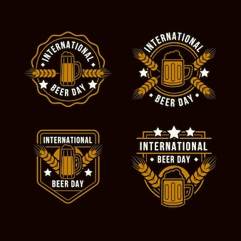 International beer day badges collection