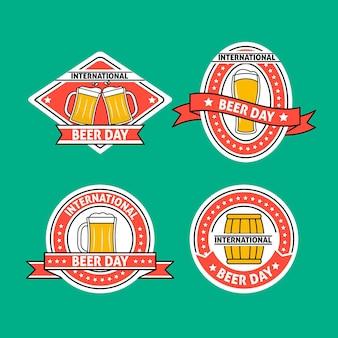 Set di badge giorno della birra internazionale