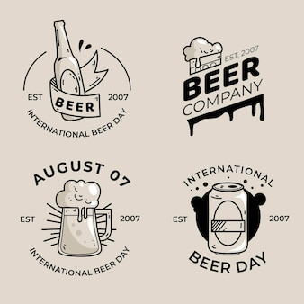 Набор значков международного дня пива