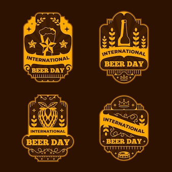 International beer day badges template