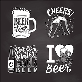 International beer day badges
