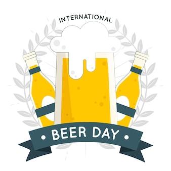 International beer day concept illustration