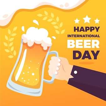 International beer day concept