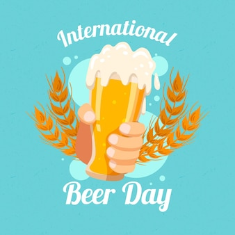 International beer day draw concept