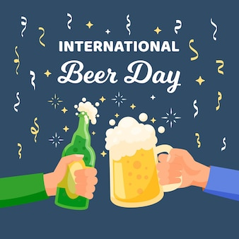 International beer day illustrated