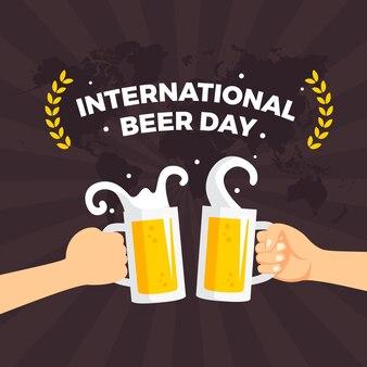 Международный день пива проиллюстрирован