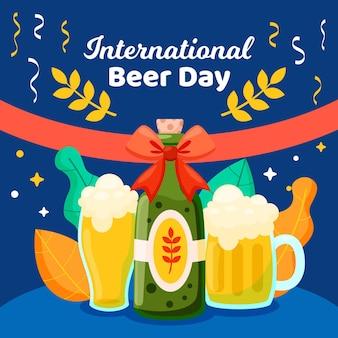 Международный день пива иллюстрации концепции