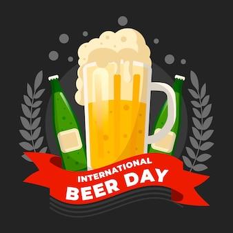 Тема иллюстрации международного дня пива