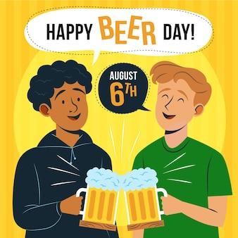 Illustrazione della giornata internazionale della birra