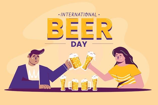 International beer day illustration