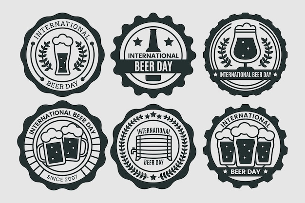 International beer day labels collection