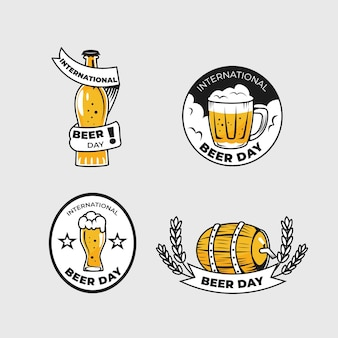 International beer day labels pack